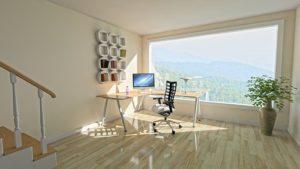 תכנון משרד מעוצב בבית
